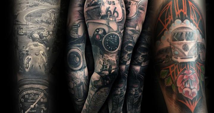 Inspirações de tatuagens pra quem é apaixonado por carros e motores.